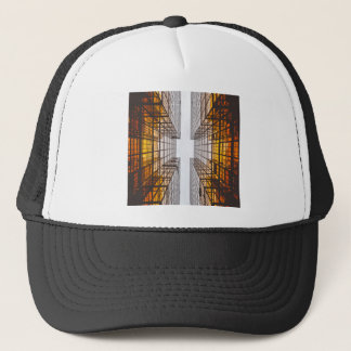 architecture facade buildings windows trucker hat