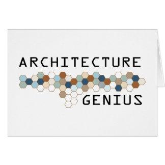 Architecture Genius Card