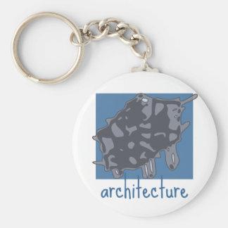 architecture graphic logo basic round button keychain