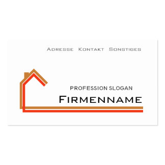 architecture house-build business card template