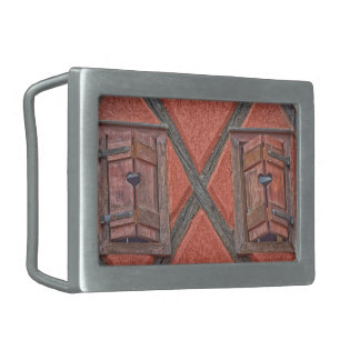 Architecture in Alsace France Rectangular Belt Buckles
