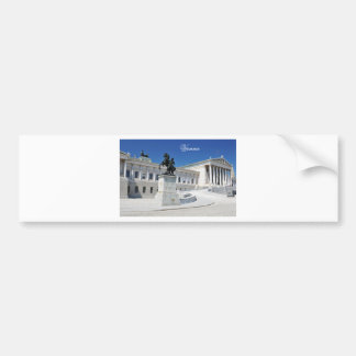Architecture in Vienna, Austria Bumper Sticker