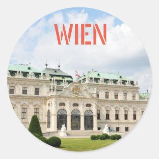 Architecture in Vienna, Austria Classic Round Sticker