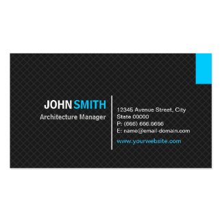 Architecture Manager - Modern Twill Grid Pack Of Standard Business Cards