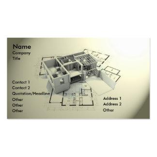 Architecture moderne carte de visite standard