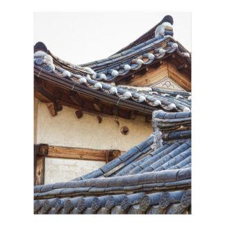 Architecture Of Bukchon Hanok Village Letterhead