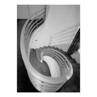 Architecture Photo - Elliptical Stair Hall Poster