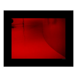 Architecture - Red Hallway Poster