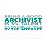 Archivist 3% Talent Postcard
