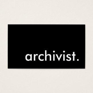 archivist. business card