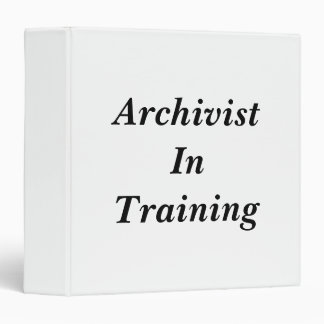 Archivist in Training Binder