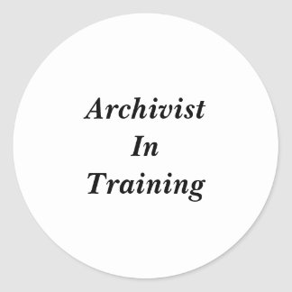 Archivist in Training Stickers