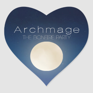 Archmage Official Bonfire Party Stickers - Heart