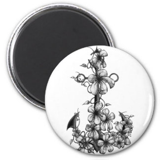 Archor & flowers magnet