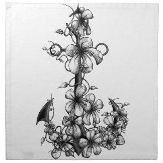 Archor & flowers napkin