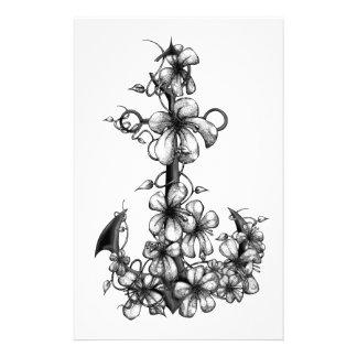Archor & flowers stationery