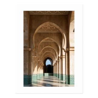 Archway at Hassan II Mosque, Casablanca, Morocco Postcard