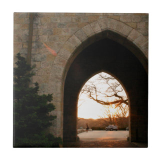 Archway Sunset With Bush Tiles