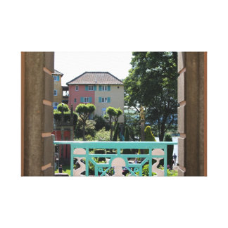 Archway View Portmeirion Canvas Print