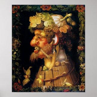 Arcimboldo Autumn Poster