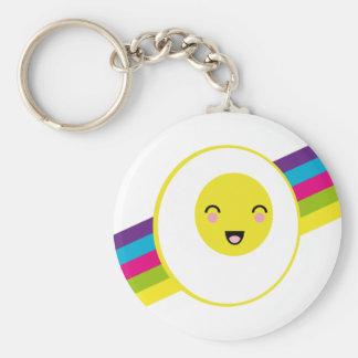 arcobal, egg basic round button keychain