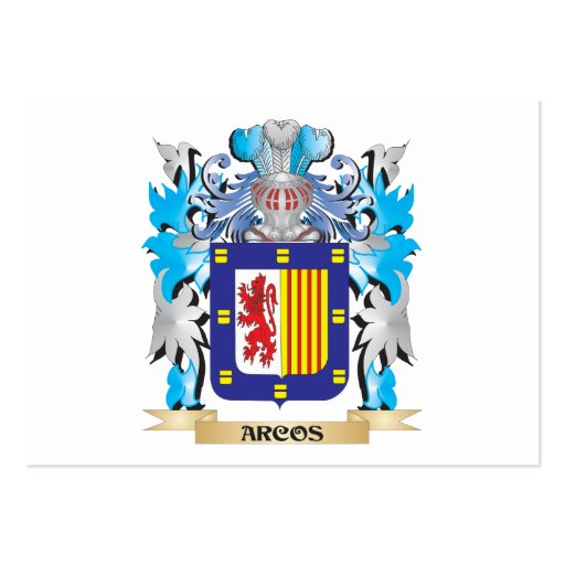 Arcos Coat Of Arms Business Card Template