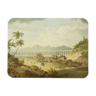 Arcos de Carioco, or Grand Aqueduct in Rio de Jane Vinyl Magnet
