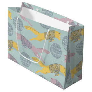 Arctic Animals in Space Large Gift Bag