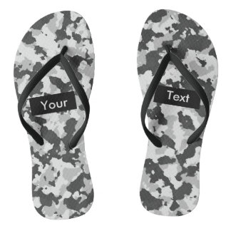 Arctic Camouflage Full Print Customizable Flip Flops