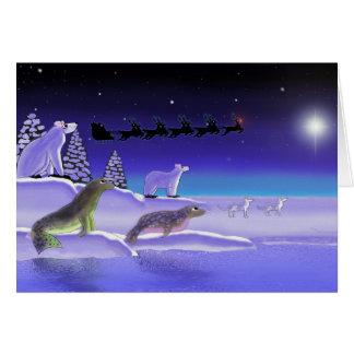 Arctic Christmas Eve Card