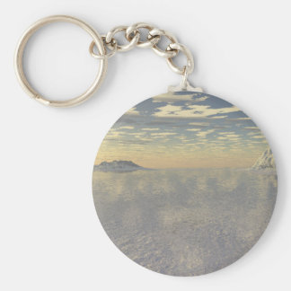 Arctic Cover Basic Round Button Keychain
