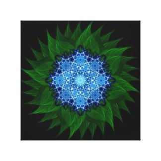 Arctic Flower Mandala Canvas Print