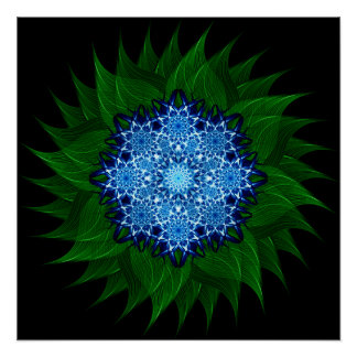 Arctic Flower Mandala Perfect Poster