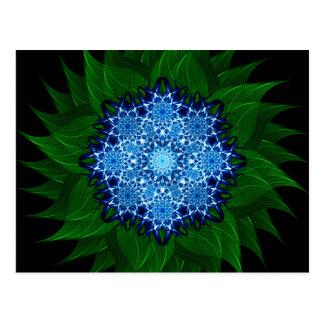 Arctic Flower Mandala Postcard