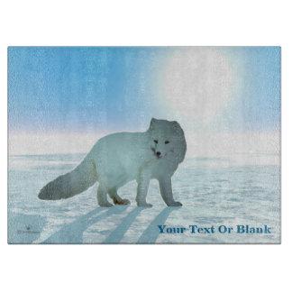 Arctic Fox Cutting Board