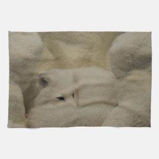 Arctic Fox Den Kitchen Towel