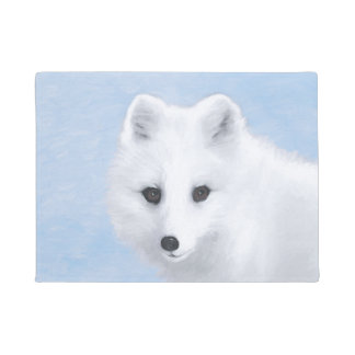 Arctic Fox Doormat