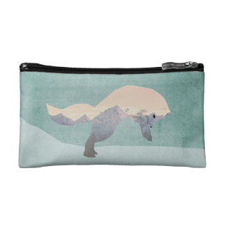 Arctic Fox Double Exposure Makeup Bags