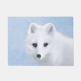Arctic Fox Painting - Original Wildlife Art Doormat