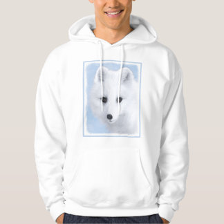 Arctic Fox Painting - Original Wildlife Art Hoodie