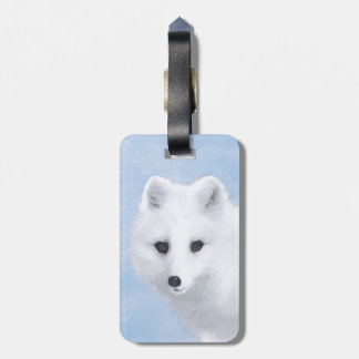 Arctic Fox Painting - Original Wildlife Art Luggage Tag