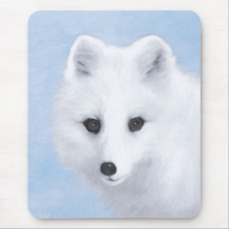 Arctic Fox Painting - Original Wildlife Art Mouse Pad