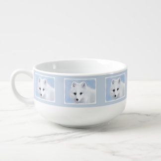 Arctic Fox Painting - Original Wildlife Art Soup Mug