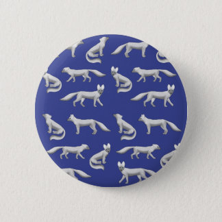 Arctic fox selection 2 inch round button