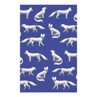 Arctic fox selection stationery