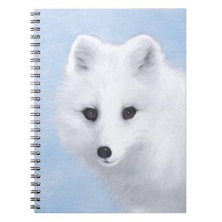 Arctic Fox Spiral Notebook