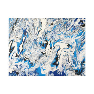 Arctic Frenzy Wrapped Canvas Print