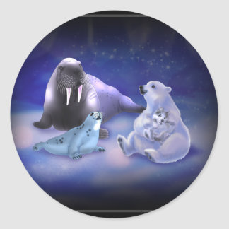 Arctic Friends Classic Round Sticker