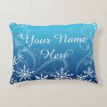 Arctic Frozen Snowdrift Personalized Accent Pillow