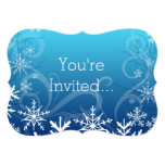 """Arctic Frozen Snowdrift Personalized 5"""" X 7"""" Invitation Card"""